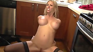 Slutty Cougar Alexis Fawx warm for spouses employee!