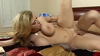 Milf Sara Jay accepts a huge cock into her pleasure chamber