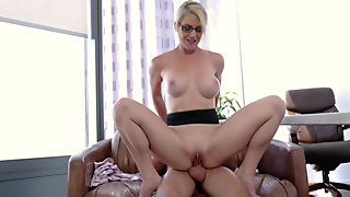 Blonde MILF Principal With Big Tits Kit Mercer Fucked By Nerdy Student